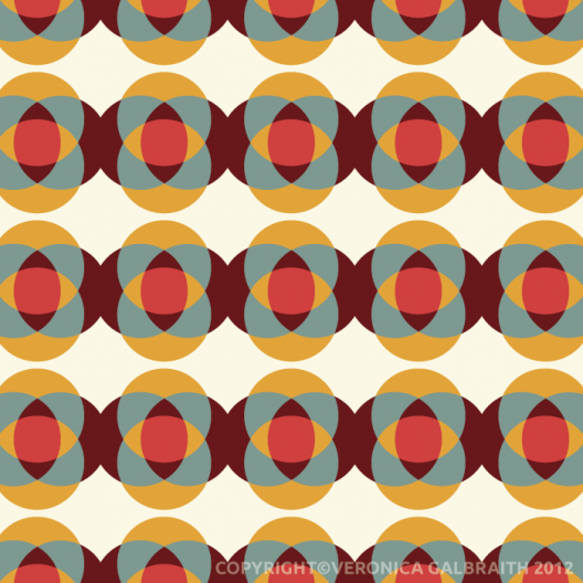 'Intersection' surface pattern design by Veronica Galbraith | Pitter Pattern