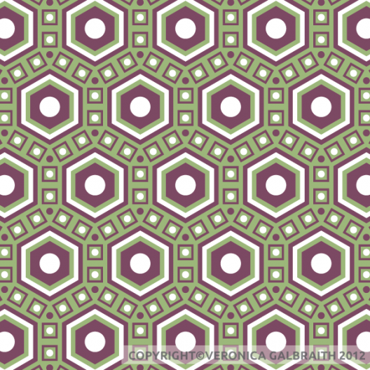 'Bold Honeycomb' surface pattern design by Veronica Galbraith | Pitter Pattern