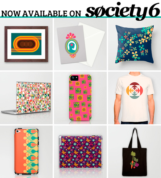 Veronica Galbraith's surface designs now available on Society6 | Pitter Pattern