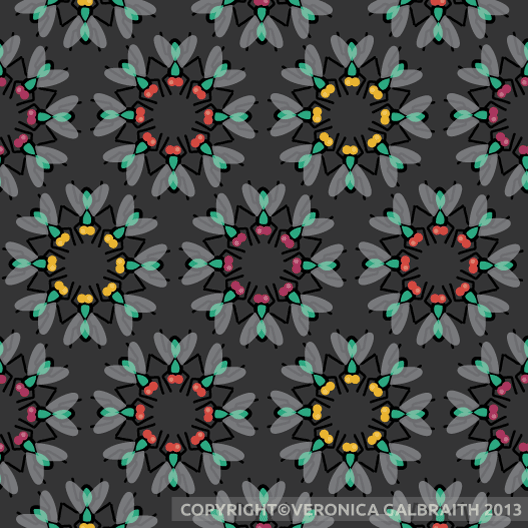 'No Flies On Me' surface pattern design by Veronica Galbraith [3] | Pitter Pattern