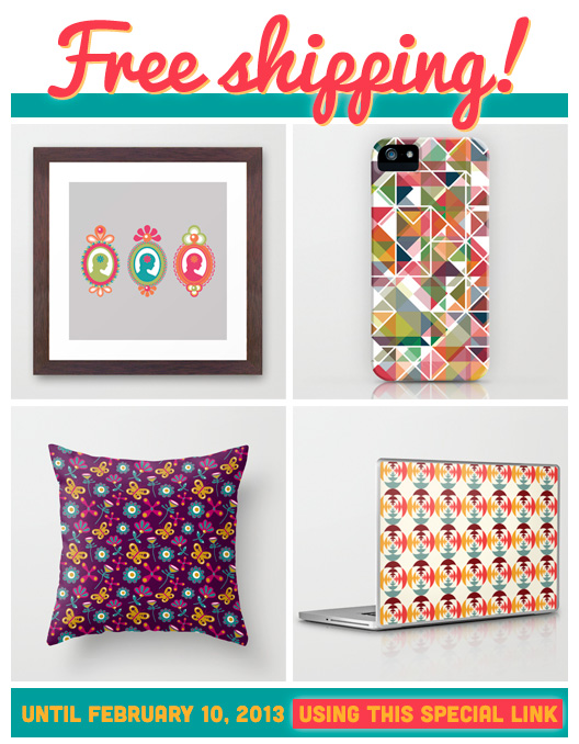 Veronica Galbraith on Society6 | Free Shipping [2] | Pitter Pattern