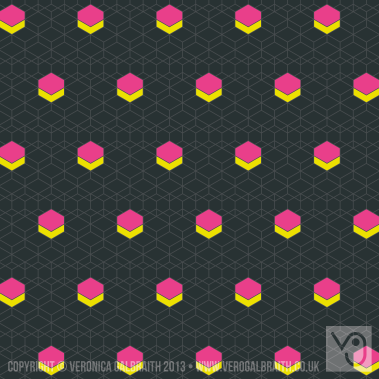 'Glowing Matrix' surface pattern design by Veronica Galbraith [4] | Pitter Pattern