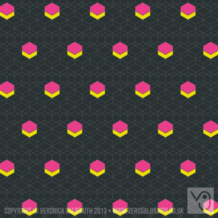 'Glowing Matrix' surface pattern design by Veronica Galbraith [4] | Pitter Pattern