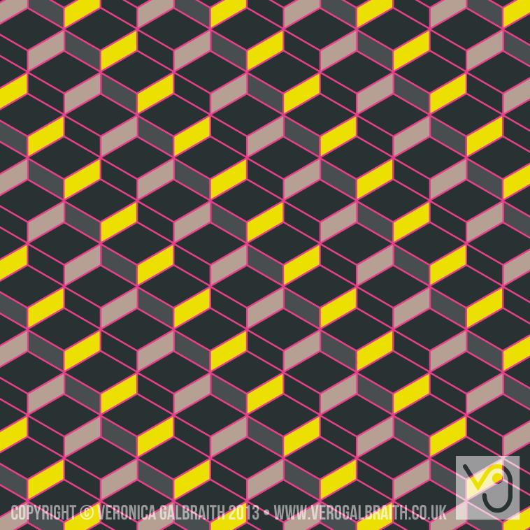'Glowing Matrix' surface pattern design by Veronica Galbraith [3] | Pitter Pattern