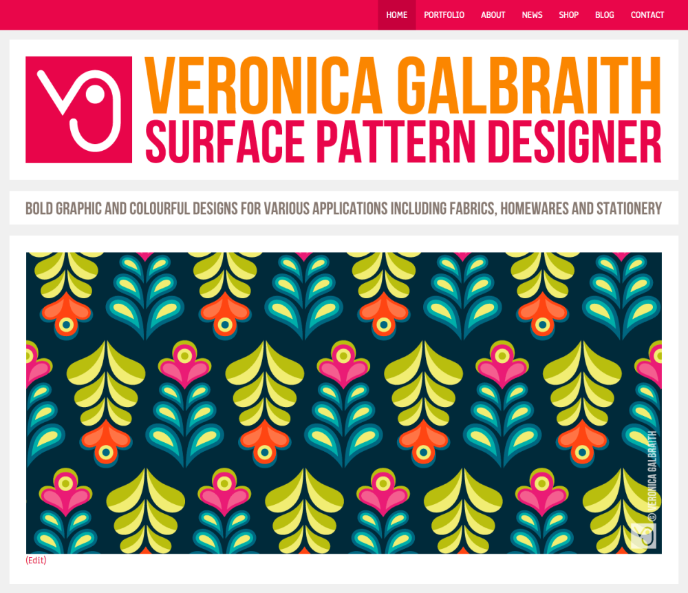 Veronica Galbraith • Surface Pattern Designer • Portfolio website