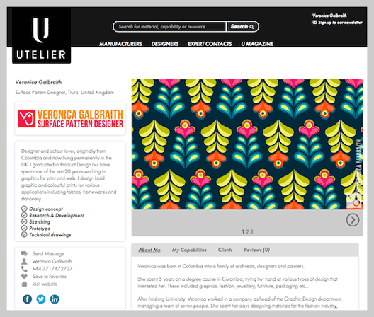 I 39 m now part of the utelier designer directory pitter for Designer directory