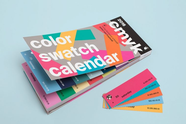CMYK Color Swatch Calendar 2016 | Pitter Pattern