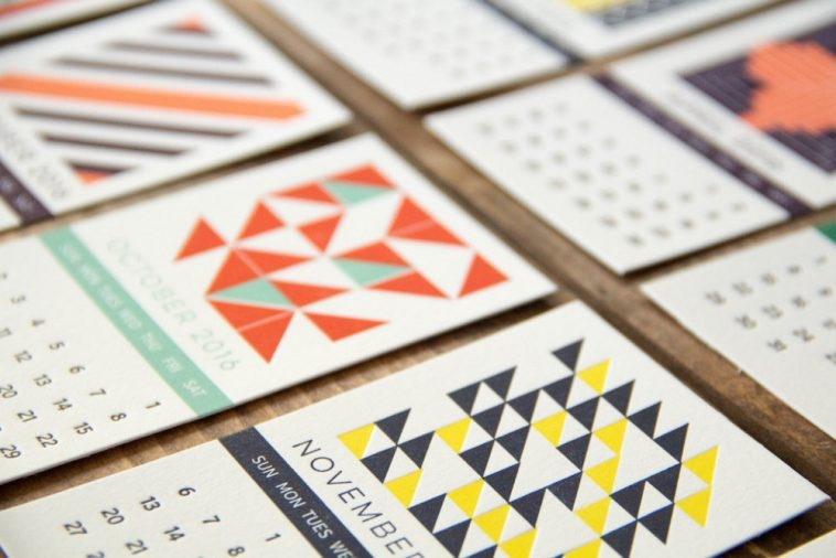 Lineville Letterpress Calendar 2016   Pitter Pattern