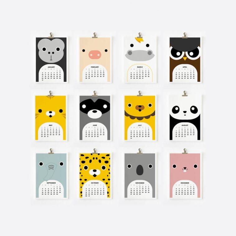 Loopz Cute Animals Calendar 2016 | Pitter Pattern