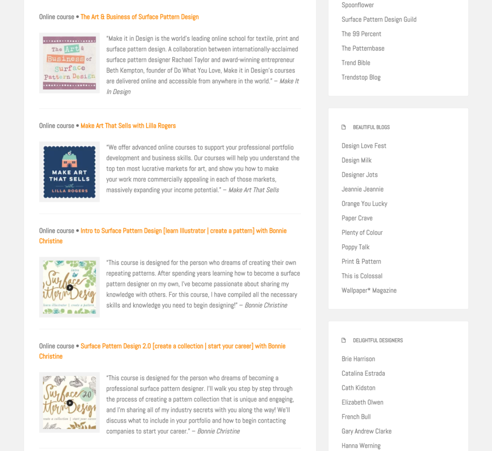 Design Resources on Pitter Pattern