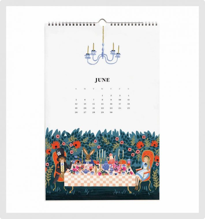 Rifle Paper Co. Alice in Wonderland Calendar 2016 | Pitter Pattern