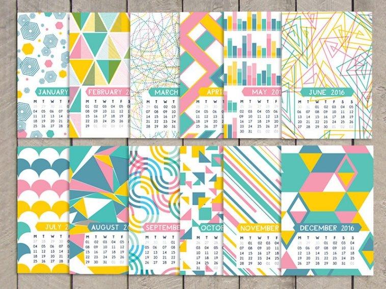 Sam Osborne Printable Calendar 2016 | Pitter Pattern