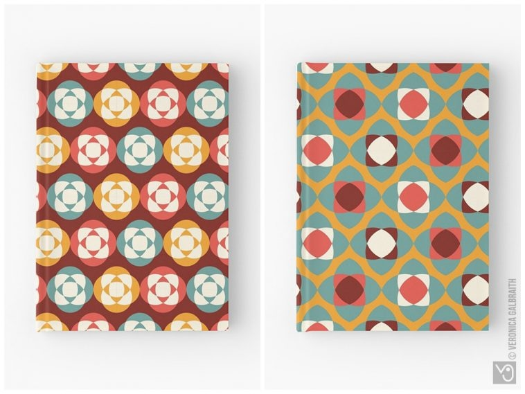 Veronica Galbraith • Surface Pattern Designer • Hardcover Notebooks • Redbubble