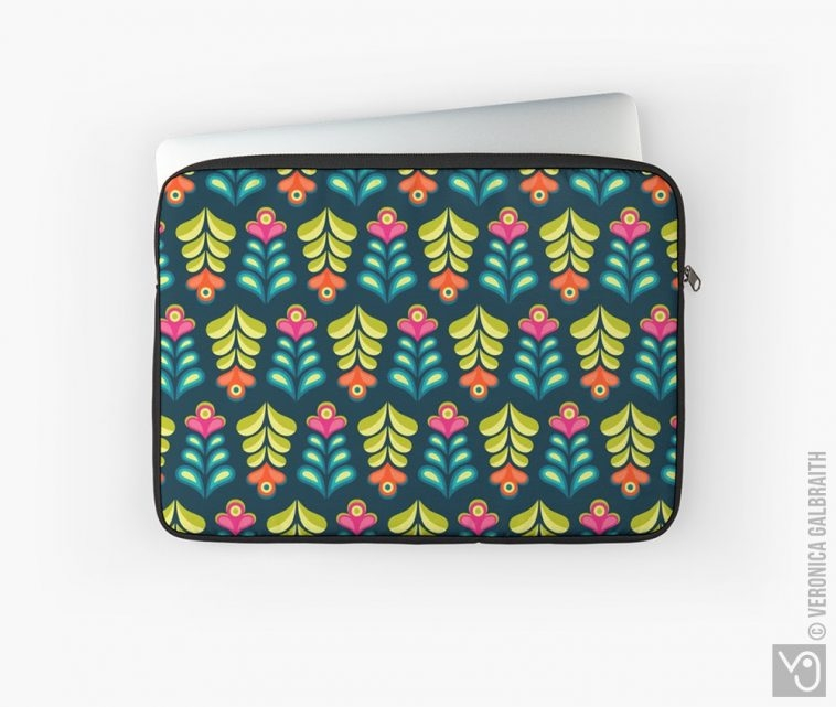 Veronica Galbraith • Surface Pattern Designer • Laptop Sleeves • Redbubble