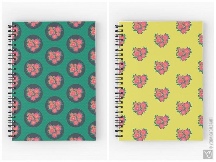 Veronica Galbraith • Surface Pattern Designer • Spiral Notebooks • Redbubble