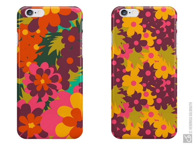 Veronica Galbraith • Surface Pattern Designer • iPhone Covers • Redbubble