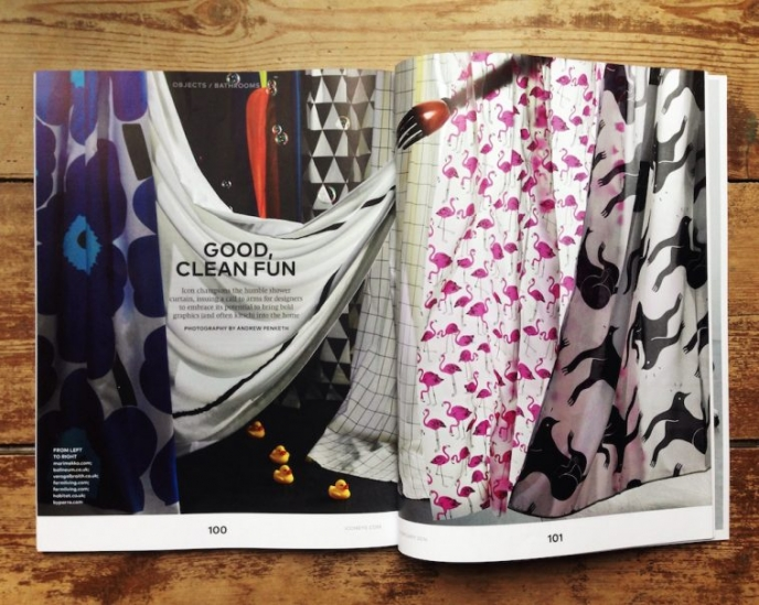 Veronica Galbraith's shower curtain featured in Icon Magazine [2] | Pitter Pattern