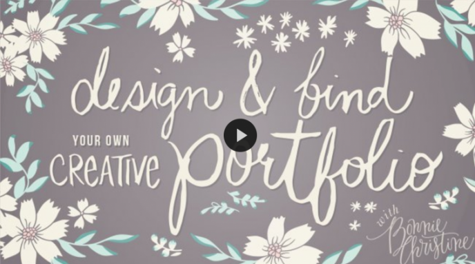 Skillshare class | Design & Bind Your Own Creative Portfolio with Bonnie Christine | Pitter Pattern