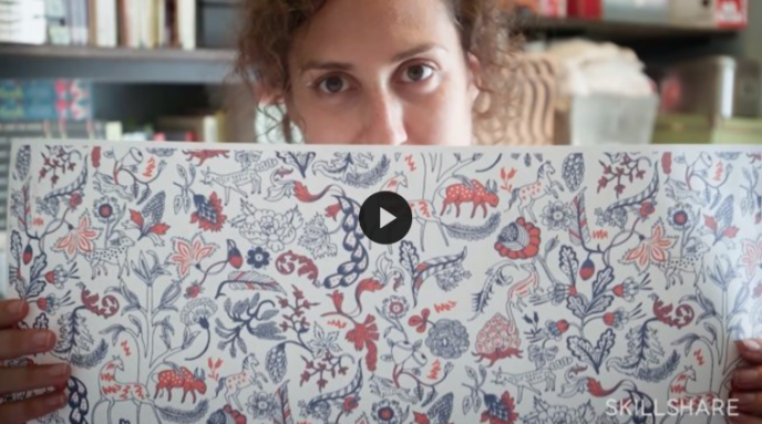 Skillshare class | Illustrating Patterns: Creating Hand-Drawn Wallpaper with Julia Rothman | Pitter Pattern