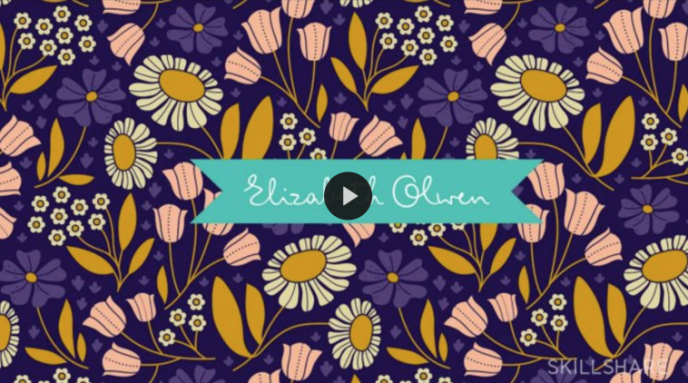 Skillshare class | Pattern Design II: A Creative Look at a Full Pattern Collection with Elizabeth Olwen | Pitter Pattern