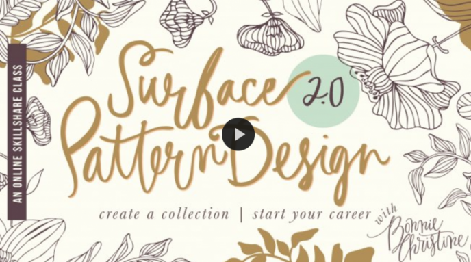 Skillshare class | Surface Pattern Design 2.0: Design a Collection | Start a Career with Bonnie Christine | Pitter Pattern