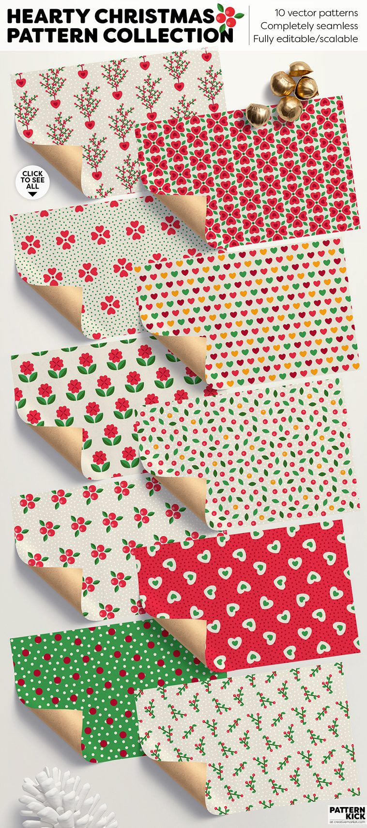 Christmas Prints and Patterns at Pattern Kick - Creative Market [3] | Pitter Pattern