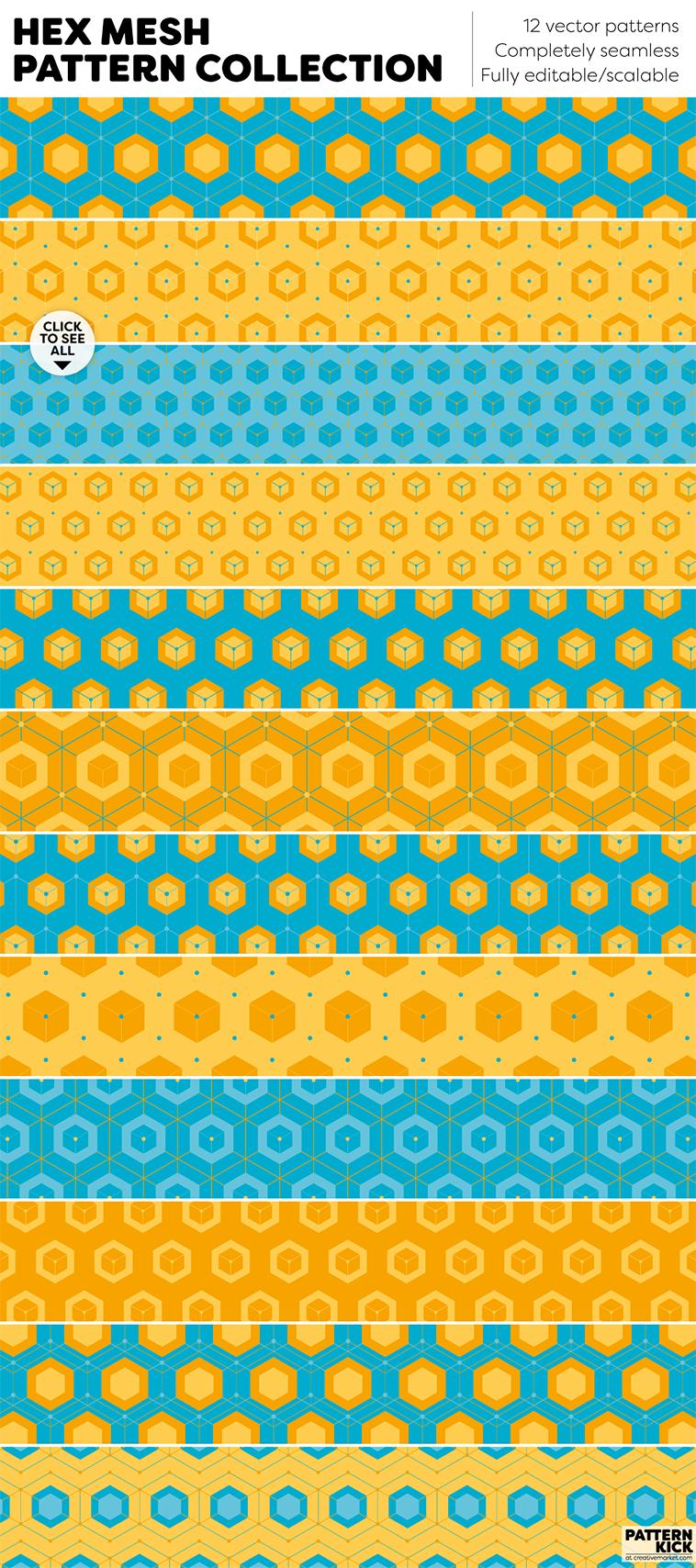 Geometric Prints and Patterns at Pattern Kick - Creative Market [3] | Pitter Pattern