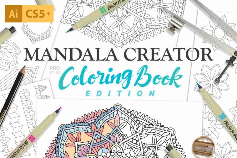 Design patterns with Coloring Book Mandala Creator | Pitter Pattern