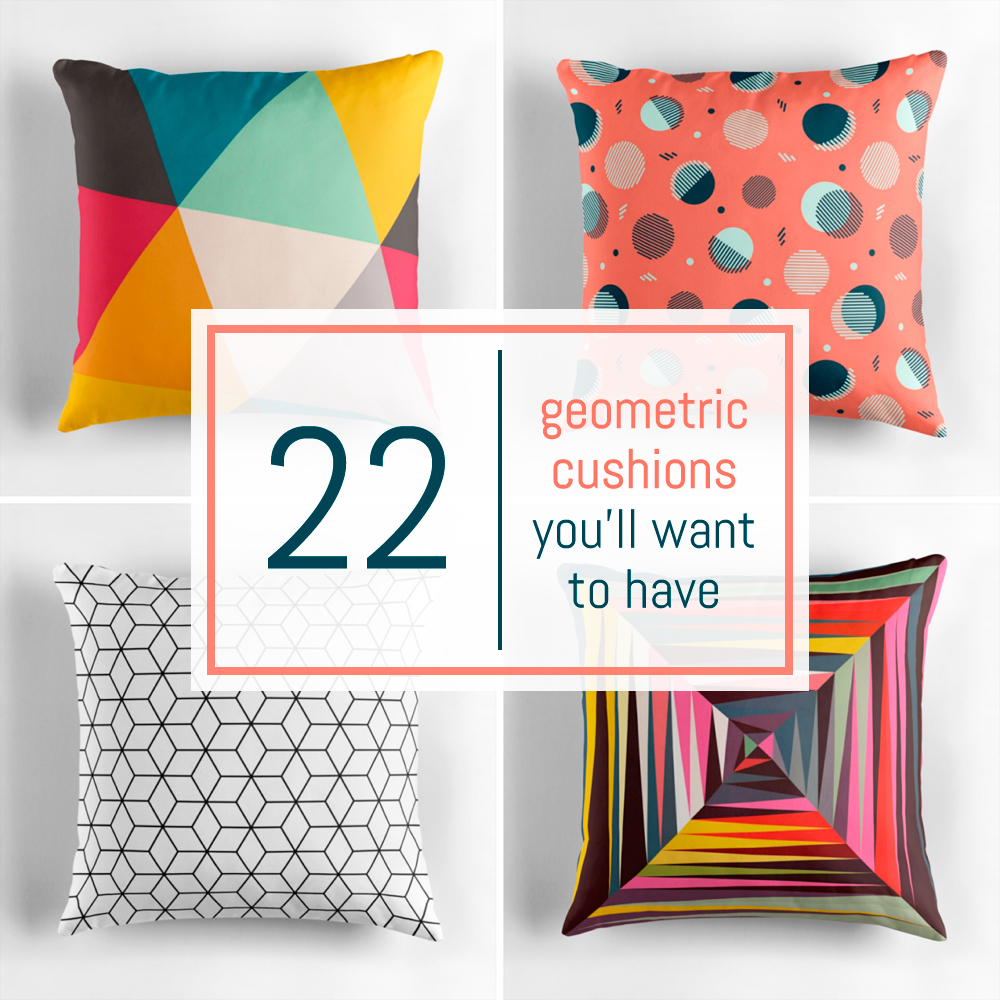 22 fabulous geometric cushions you'll want to have | Pitter-Pattern
