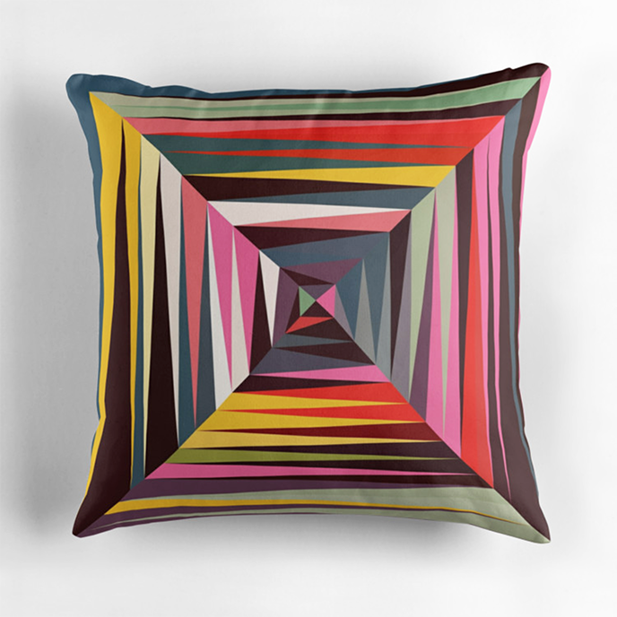 Beth Thompson - Geometric cushions at Redbubble | Pitter Pattern