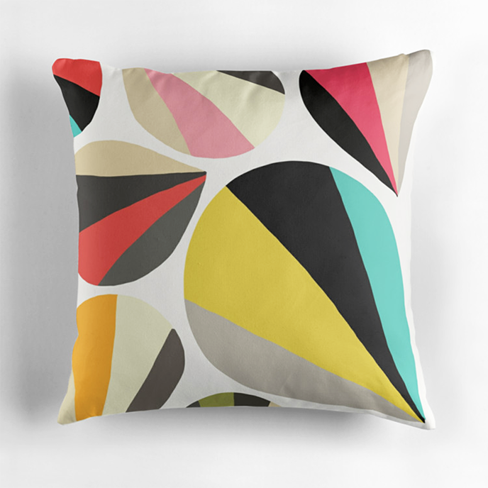 ColorcaustDS - Geometric cushions at Redbubble | Pitter Pattern