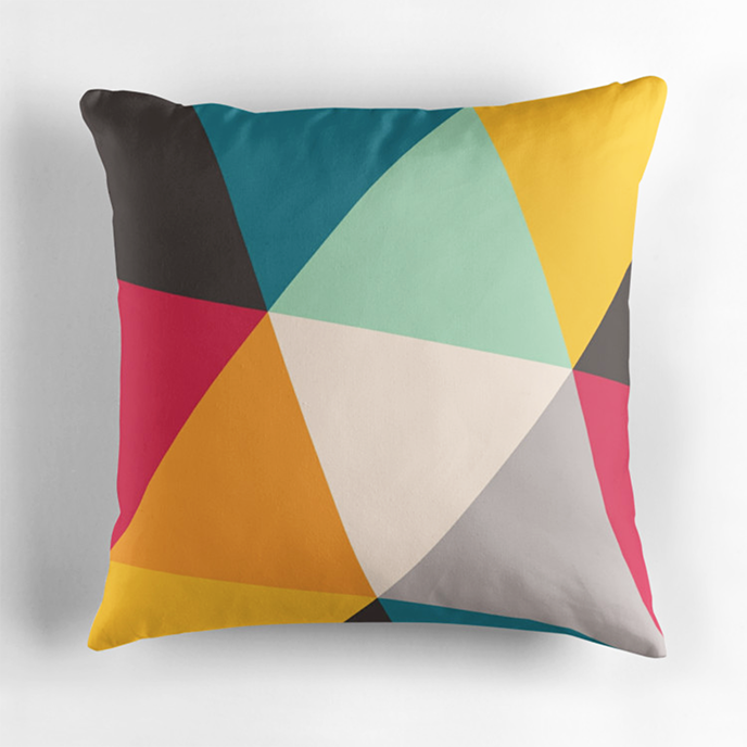 Gary Andrew Clarke - Geometric cushions at Redbubble | Pitter Pattern