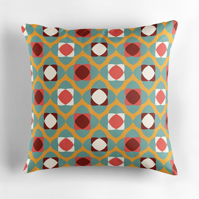 Veronica Galbraith - Geometric cushions at Redbubble | Pitter Pattern