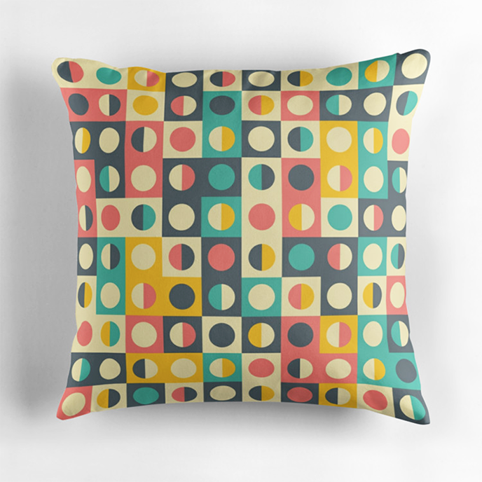 Yury Velikanov - Geometric cushions at Redbubble | Pitter Pattern