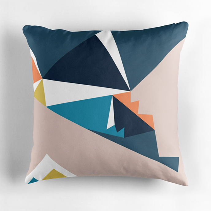 fossdesign - Geometric cushions at Redbubble | Pitter Pattern