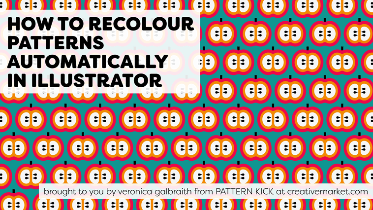 How to recolour patterns automatically in Illustrator [video] | Pitter Pattern