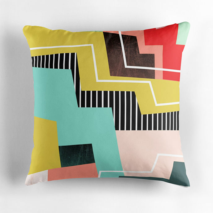 susanapaz - Geometric cushions at Redbubble | Pitter Pattern