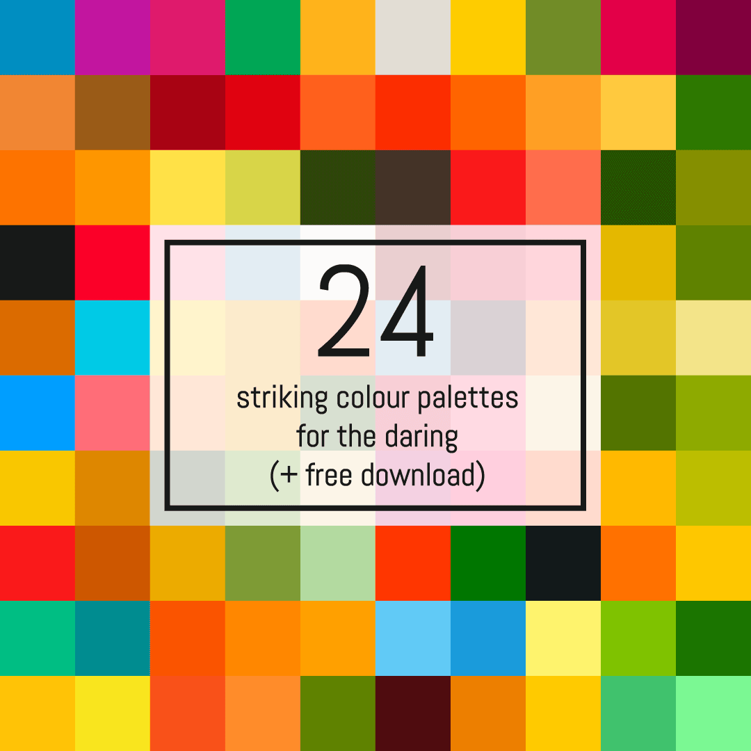 24 striking colour palettes for the daring (+ free download!) | Pitter Pattern