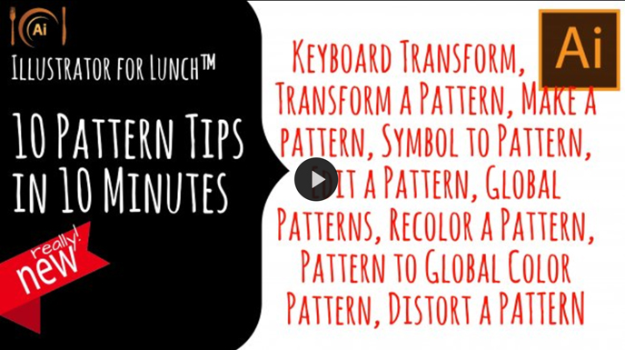 Skillshare pattern classes | Illustrator for Lunch™ - 10 Pattern tips in 10 Minutes with Helen Bradley | Pitter Pattern