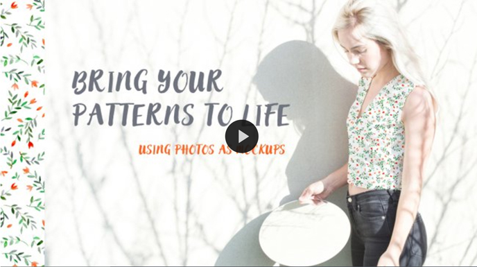 Skillshare pattern classes | Bring Your Patterns to Life Using Photos as Mockups with Agnieszka Kobylinska | Pitter Pattern