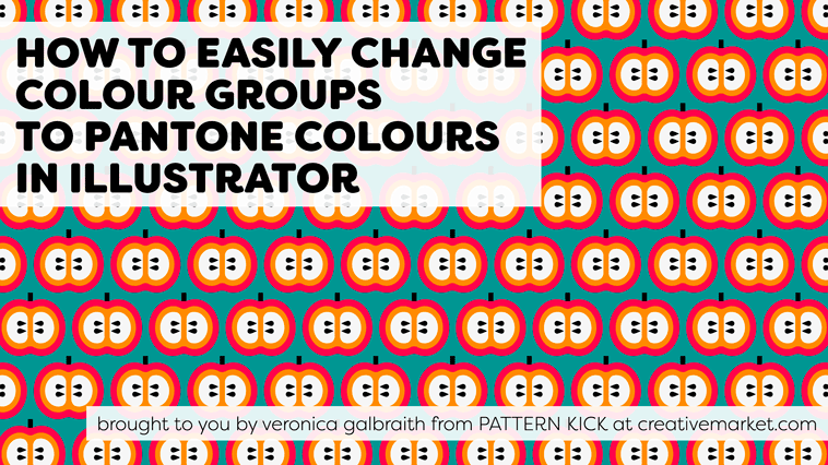 How to easily change colour groups to Pantone colours in Illustrator [video] | Pitter Pattern