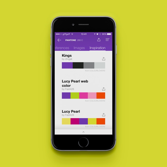 Pantone Studio app - Crowdsourcing colour palettes | Pitter Pattern
