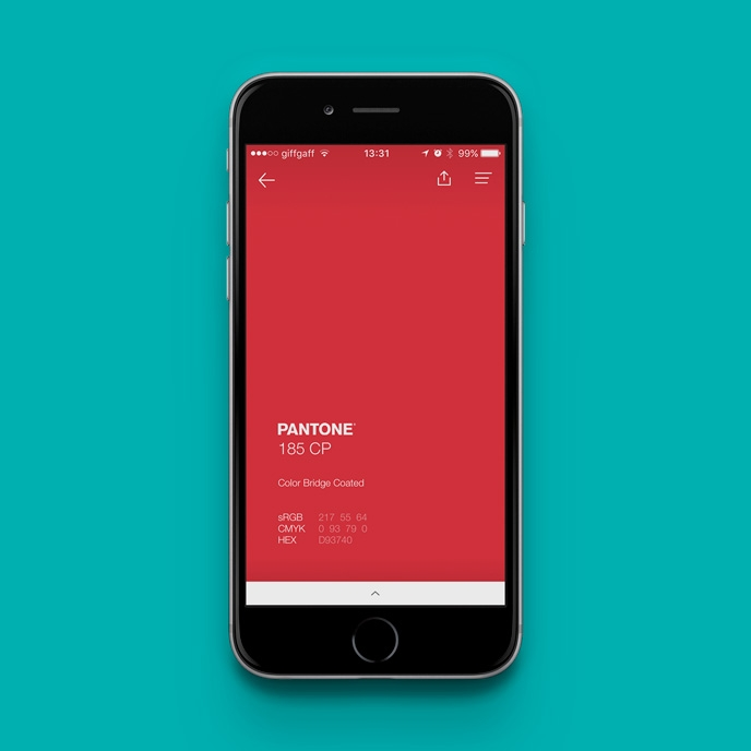 Pantone Studio app - Finding colour values | Pitter Pattern