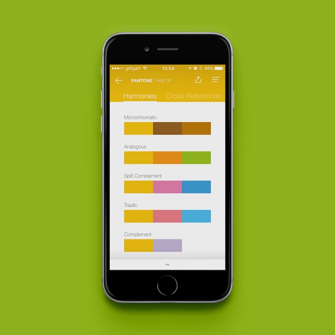 Pantone Studio app - Help with harmonies | Pitter Pattern