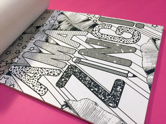 "Season of Victory - ""Color By Fab"" colouring book for fab.com 