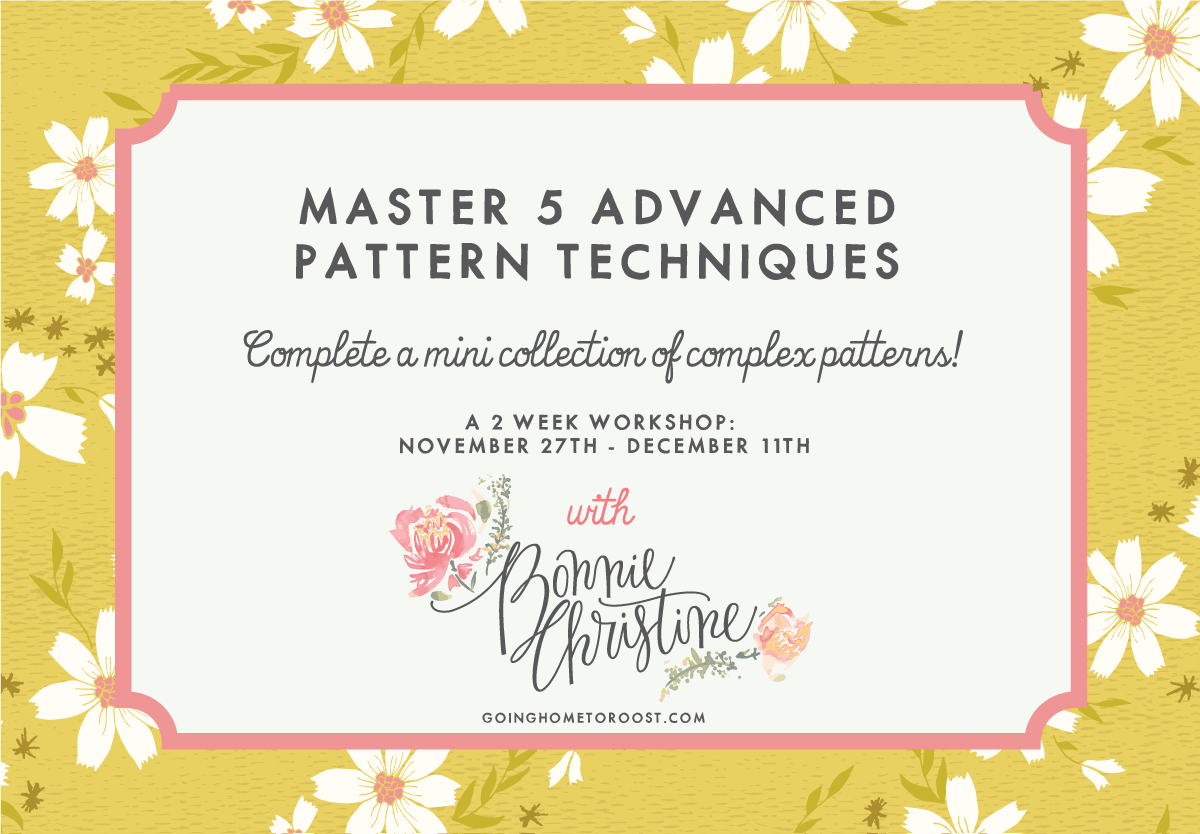 Master 5 Advanced Pattern Techniques with Bonnie Christine | Pitter Pattern