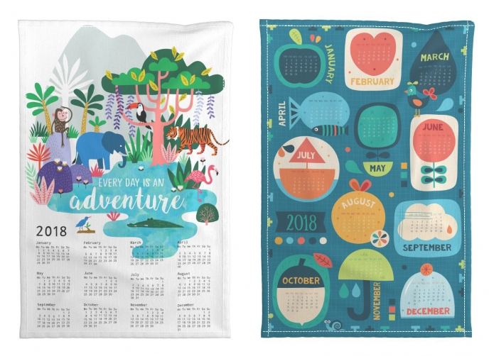 Spoonflower's 2018 Calendar Tea Towels [01] | Pitter Pattern