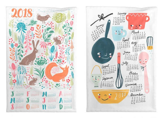 Spoonflower's 2018 Calendar Tea Towels [02] | Pitter Pattern