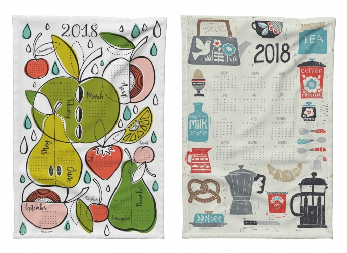Spoonflower's 2018 Calendar Tea Towels [03] | Pitter Pattern