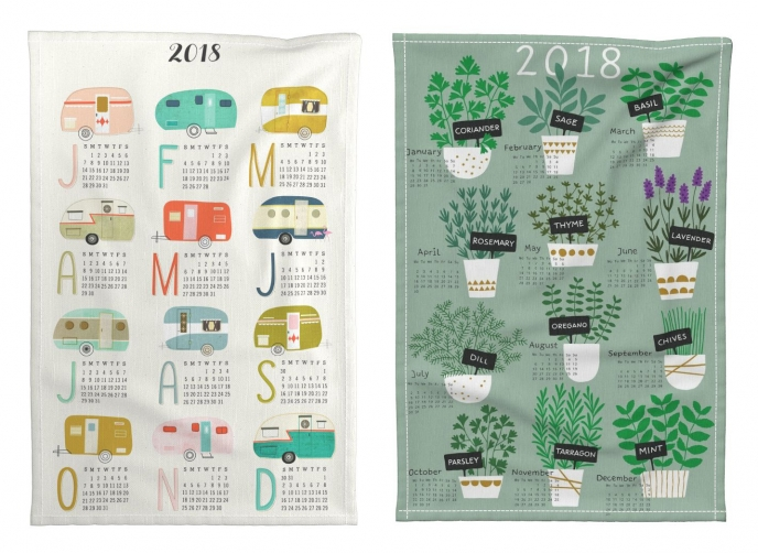 Spoonflower's 2018 Calendar Tea Towels [04] | Pitter Pattern